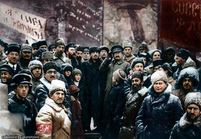 Празднование 2-й годовщины революции. colorized by planetzero, planetzerocolor, колоризация, цветные фотографии начала 20 века