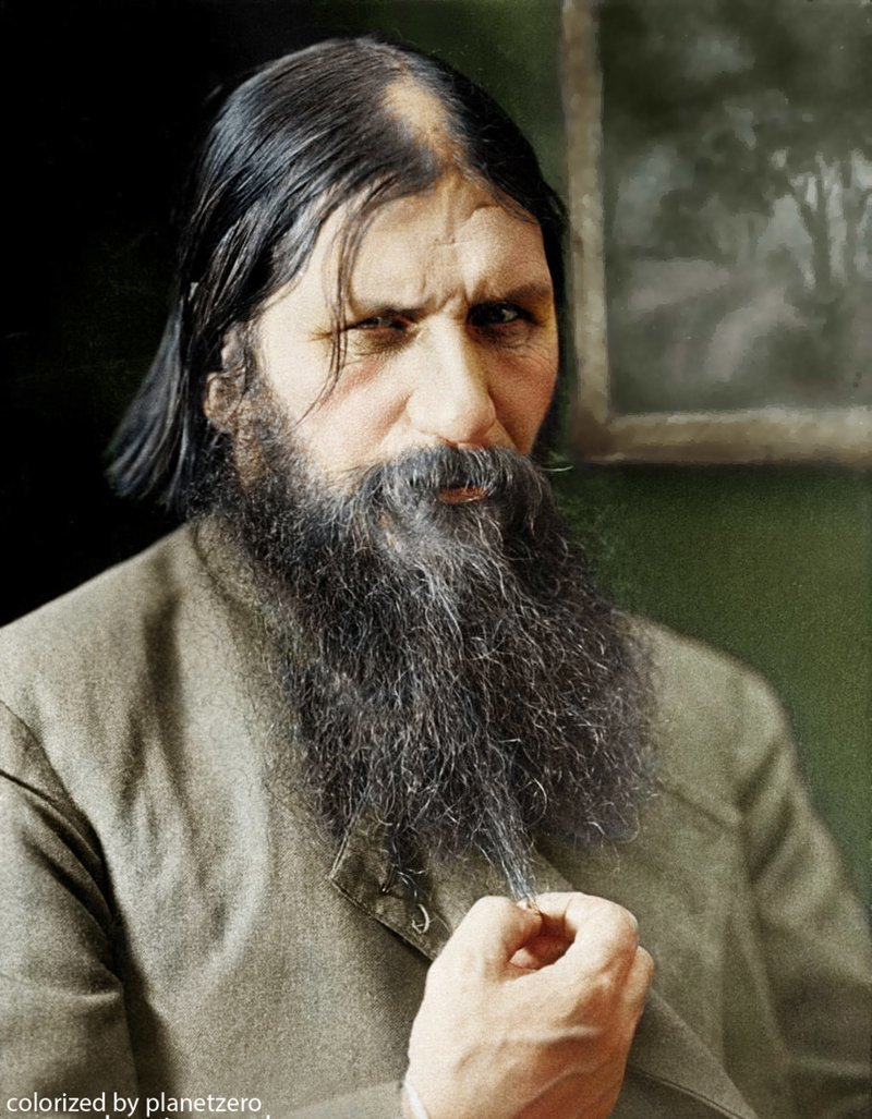 Григорий Распутин colorized by planetzero, planetzerocolor, колоризация, цветные фотографии начала 20 века