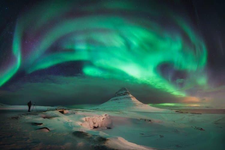 Северное сияние в Исландии исландия, красота, пейзажи, природа, путешествия, туризм, фотография, фоторепортаж