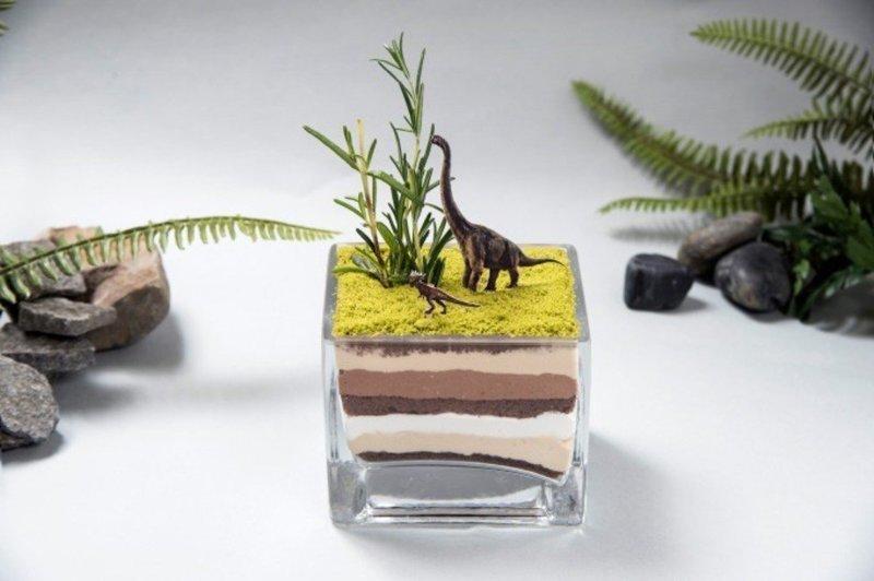 """""""Геологическое парфе"""" блюда, еда, кафе, кино, креатив, мир юрского периода, ресторан, япония"""