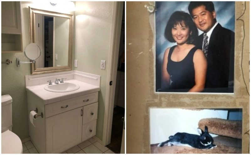 Пара затеяла ремонт в ванной, и нашла забавное послание от предыдущих хозяев из прошлого, неожиданно, послание, ремонт, странные вещи, сша, сюрприз, фото