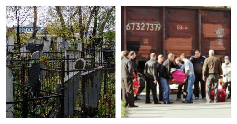 Чтобы похоронить покойников, жители Подмосковья вынуждены пролезать под составом Ликино-Дулево, ПОДМОСКОВЬЕ, жить в россии, похороны, ржд, товарные поезда