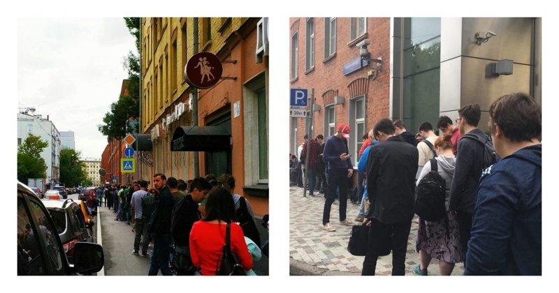 Быть первым: в центре Москвы выстроилась очередь за умными колонками ynews, колонки, очереди, помощник Алиса, продажа, толпа, яндекс