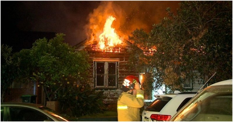 Пожарный из Австралии снял тушение пожара от первого лица австралия, в мире, видео, от первого лица, пожар, пожарный, сидней