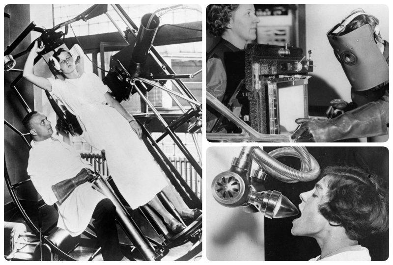 Пугающее медицинское оборудование прошлого, которое больше похоже на орудие пыток изобретения, исторические фото, медицина, медицина прошлого, оборудование, рентгеновский аппарат, фото