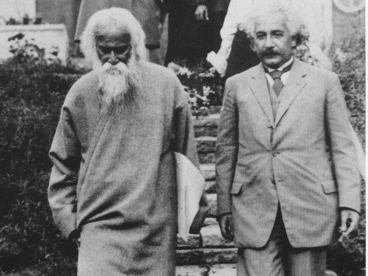 В 1930 году Альберт Эйнштейн дал интервью известному индийскому писателю Рабиндранату Тагору индия, интересное, история, личность, прошлое, событие, фотография, фотомир