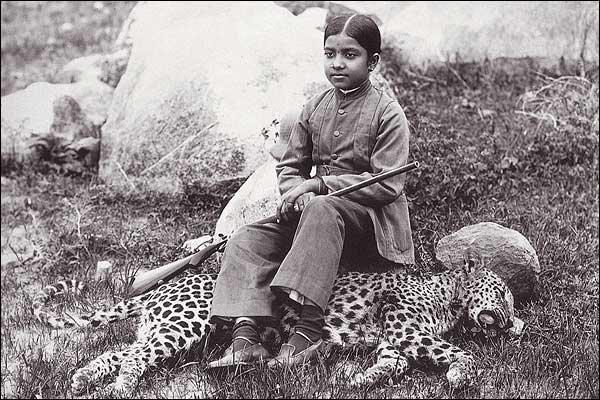 Дочь махарджи, застрелившая пантеру, 1920-е  индия, интересное, история, личность, прошлое, событие, фотография, фотомир