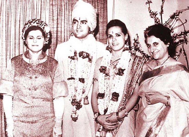 Свадьба Раджива Ганди, премьер-министра Индии в 1984-1989 годах индия, интересное, история, личность, прошлое, событие, фотография, фотомир