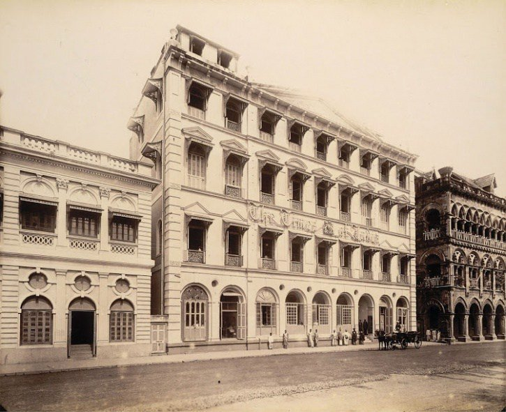 Здание газеты The Times of India, Бомбей (Мумбаи), 1898 год  индия, интересное, история, личность, прошлое, событие, фотография, фотомир