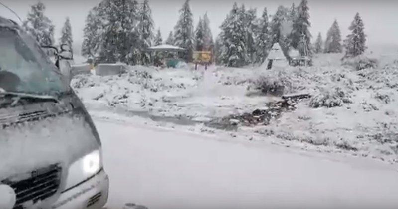 «Глобальное потепление» по-русски! ynews, видео, глобальное потепление, лето, новости, снег в июле, снег летом