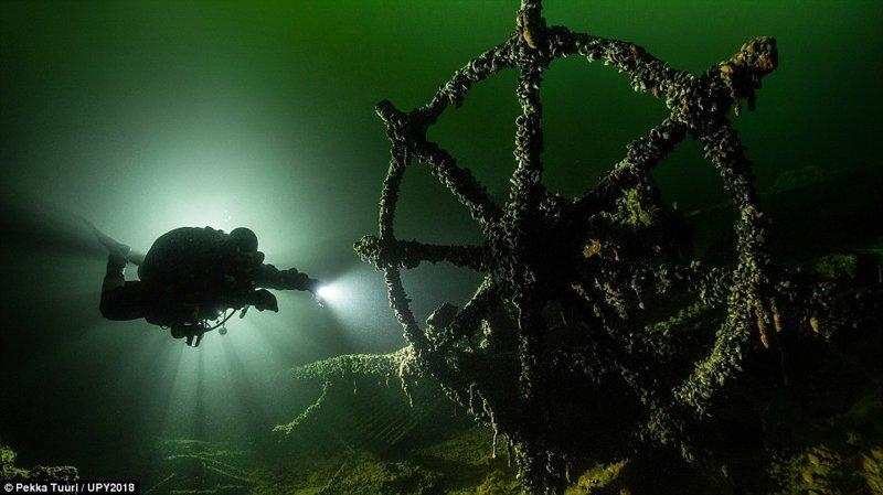Немецкий корабль Klaus Oldendorf, затонувший в результате атаки советской подводной лодки в 1942 году, Пекка Туури конкурс, красиво, лучшее, подборка, подводные снимки, подводные фото, фото, фотографы