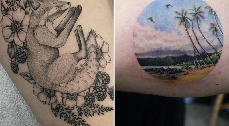 23 очаровательные татуировки, вдохновленные природой идеи, идеи для тату, красиво, подборка, природа, рисунки на теле, тату, татуировки