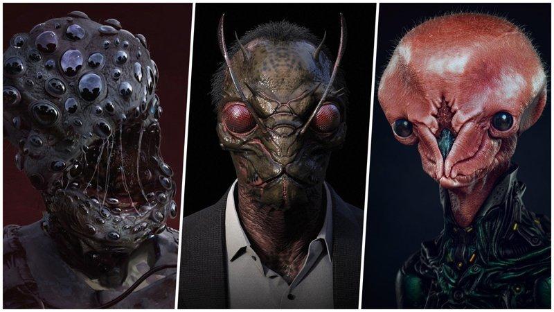 Жуткие монстры, которых вы точно не хотели бы встретить в реальности искусство, картинки, монстры, сказочные создания