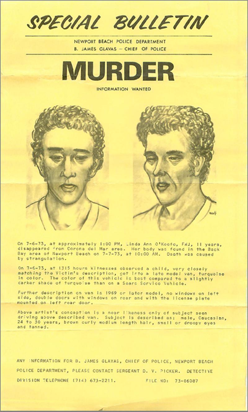 Набросок мужчины из минивэна, которого разыскивали в 1973 году девочка, интересное, история, полиция, рассказ, сша, твиттер, убийство