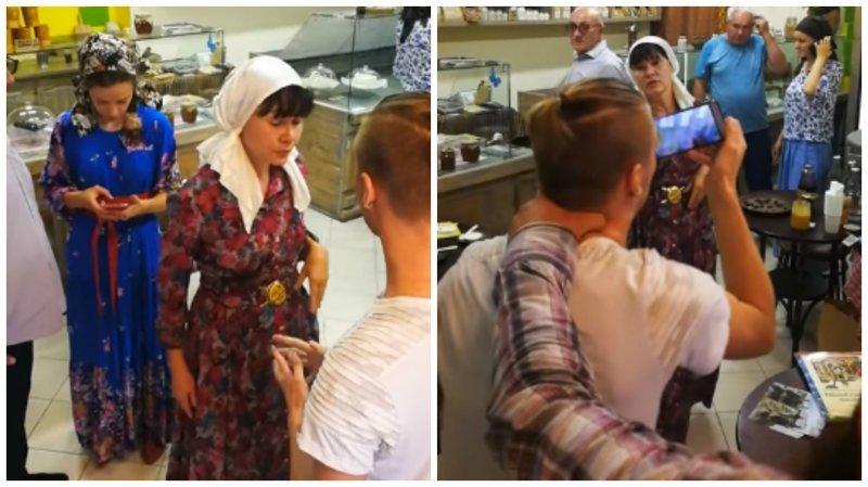 Из магазина Германа Стерлигова взашей выгнали парня с пирсингом ynews, Стерлигов, видео, интересное, магазин, фото, хлеб
