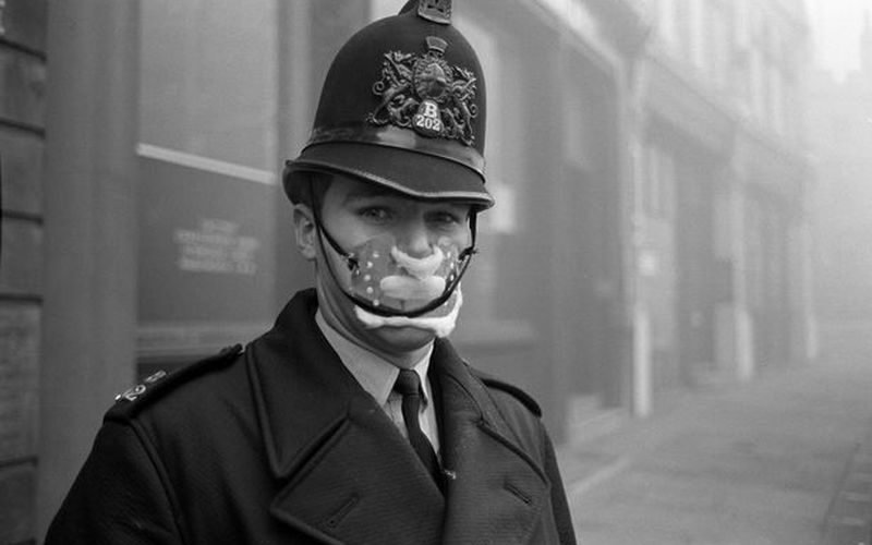Прославился лондонский туман в 1952 году англия, лондон, погода, туман, туман-убийца, фото