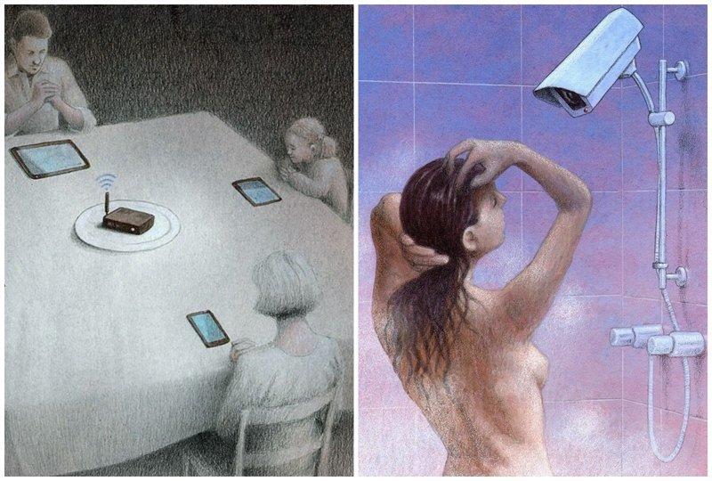 Сатирические рисунки о современной жизни, в которых гораздо больше печальной правды,чем хотелось бы Pawel Kuczynski, Павел Кучинский, иллюстрации, художник