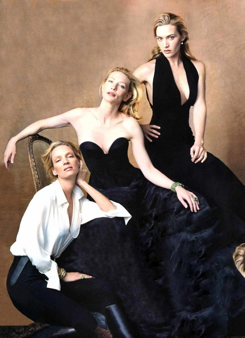 Ума Турман, Кейт Бланшетт и Кейт Уинслет. фото, фотография, фотохудожник
