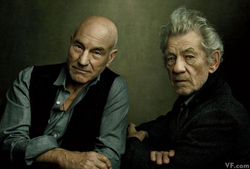 Иэн Маккеллен и Патрик Стюарт. фото, фотография, фотохудожник