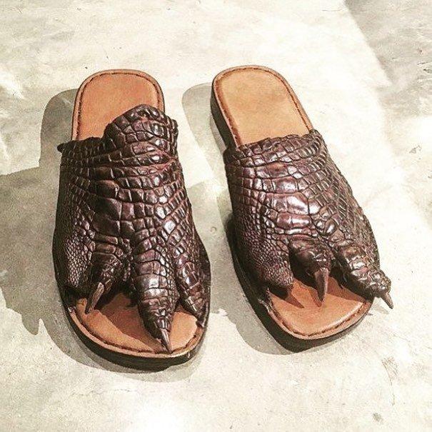 13. Почувствуй себя крокодилом видео, дизайн, интересное, маразм, мода, обувь, подборка
