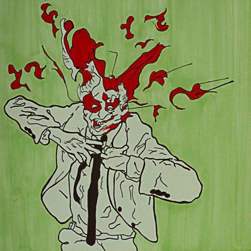 """8. """"Взрыв мозга"""", как он есть. Автор - Джеймс Девлин. Произведения искусства, Что происходит, искусство, картины, подборка, странное искусство, странные картины, художники"""