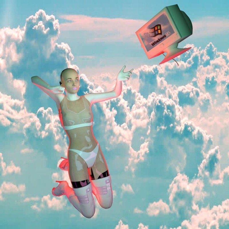 """12. """"Я вдохновляюсь научной фантастикой 90-х, пластиковой модой, девичьей культурой и Киану Ривзом. Много лет я изучала 3D-программы, и теперь выражаю себя через свои творения"""", - пишет автор, Стейси Ант. Произведения искусства, Что происходит, искусство, картины, подборка, странное искусство, странные картины, художники"""