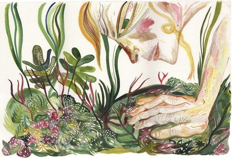 """11. Рисунок пастелью из серии экологического графического проекта """"Русские люди и окружающая среда"""". Автор - Сьюус Агнес. Произведения искусства, Что происходит, искусство, картины, подборка, странное искусство, странные картины, художники"""