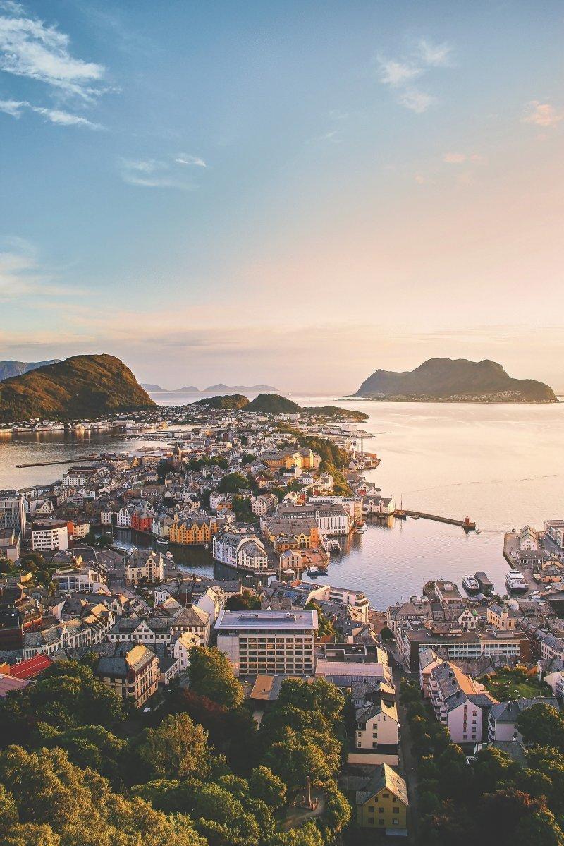 Олесунн, Норвегия день, животные, кадр, люди, мир, снимок, фото, фотоподборка