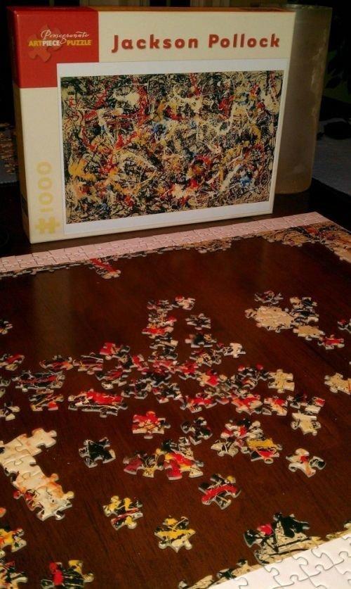 Пазлы по картинам Джексона Поллока - мозгодробительно! Фабрика идей, бывает же, всячина, интересное, пазлы, терпение, усидчивость