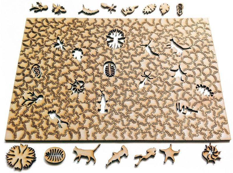 Пазлы из сотен деревянных кусочков неправильной формы. Терпение и усидчивость! Фабрика идей, бывает же, всячина, интересное, пазлы, терпение, усидчивость