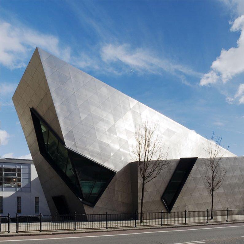 Одно из зданий London Metropolitan University Deconstructivism, архитектура, деконструктивизм, здания, необычная архитектура, строения