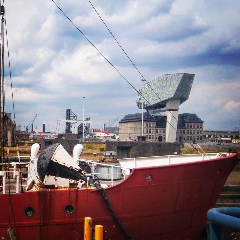 Порт Антверпена Deconstructivism, архитектура, деконструктивизм, здания, необычная архитектура, строения