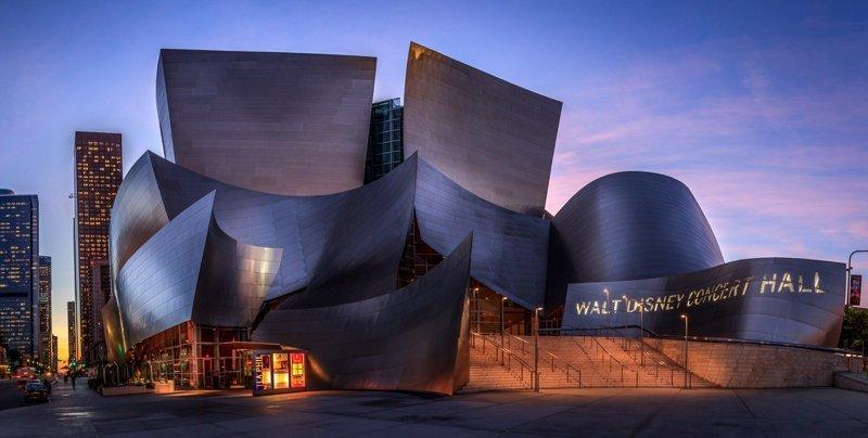 Концертный зал имени Уолта Диснея, Лос-Анджелес Deconstructivism, архитектура, деконструктивизм, здания, необычная архитектура, строения