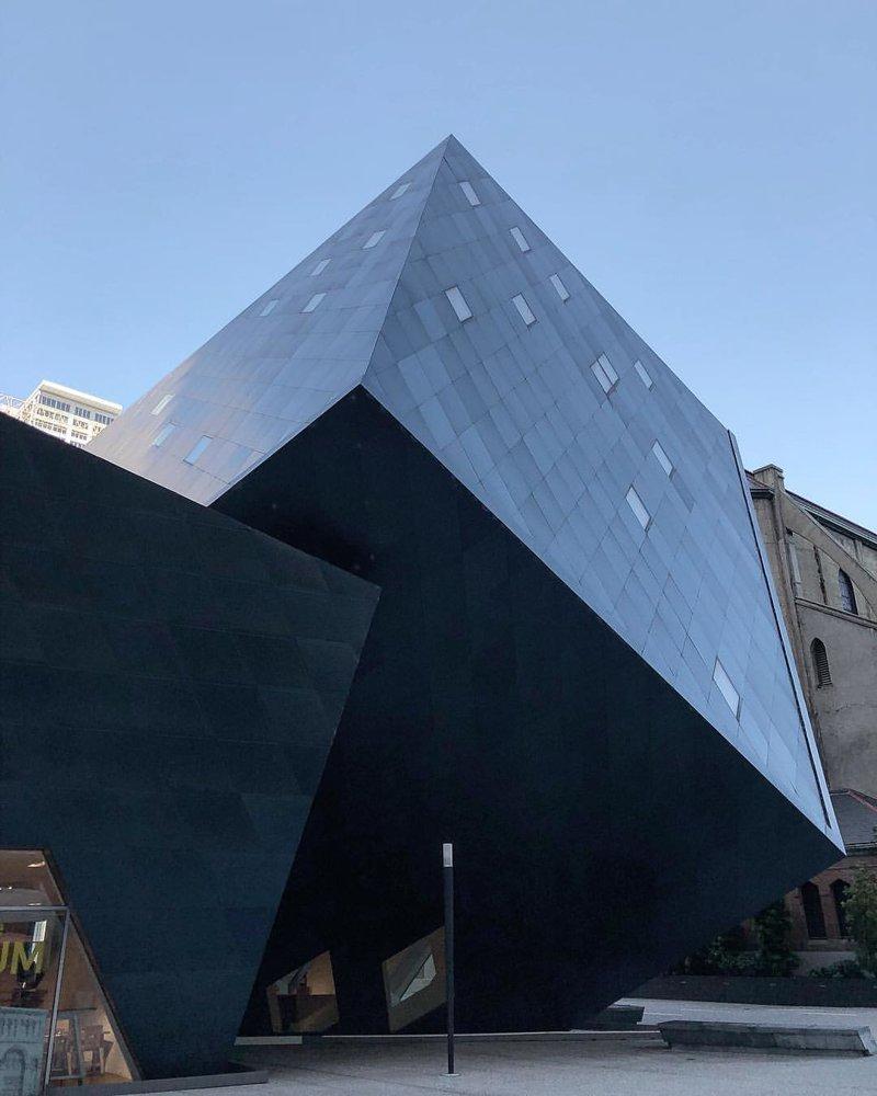 Современный Еврейский музей, Сан-Франциско Deconstructivism, архитектура, деконструктивизм, здания, необычная архитектура, строения