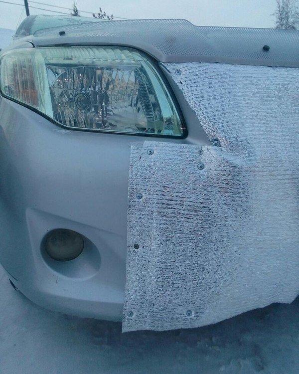 Утеплили автомобиль в Якутии занимательно, крепёж, крепёжное изделие, самонарезающий шуруп, саморезы, шурупы