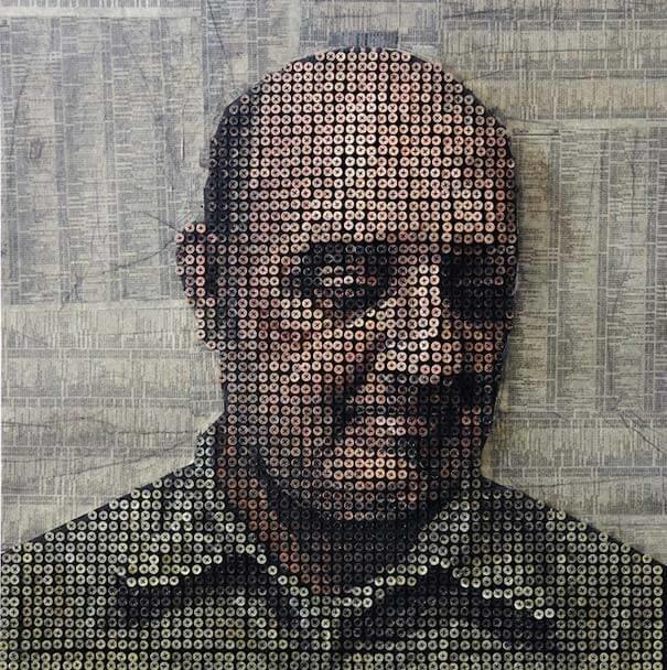 3D-портреты из шурупов занимательно, крепёж, крепёжное изделие, самонарезающий шуруп, саморезы, шурупы