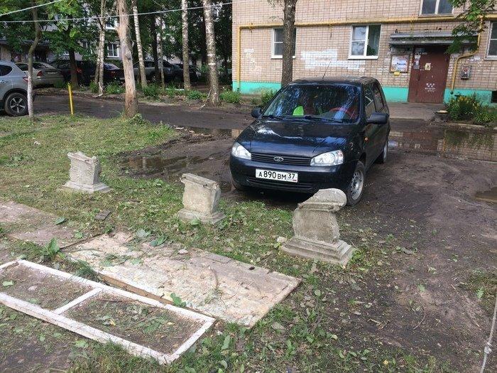 А так выглядит парковка графа Дракулы гроб, кладбище, мертвец, могила, прикол, смерть, юмор