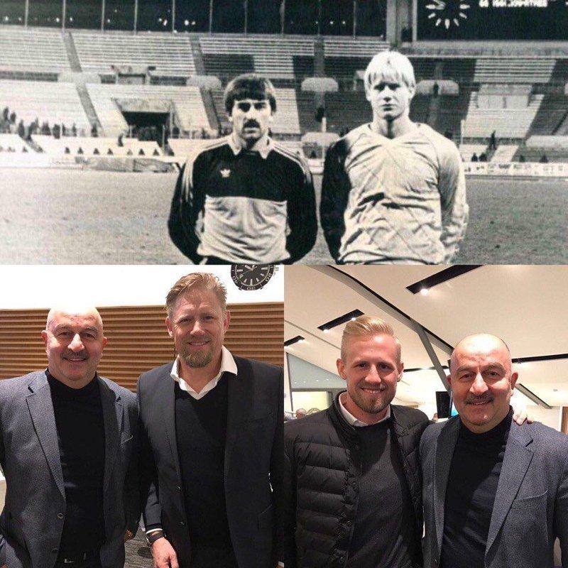 Шмейхель опубликовал фотографию с Черчесовым 33-летней давности Черчесов, Шмейхель, футбол, чм-2018