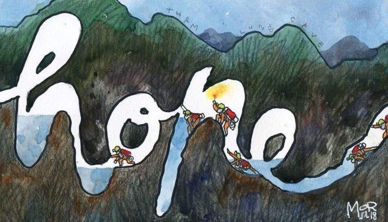 """""""Надежда"""" дети, искусство, пещера, рисунки, рисунок, спасение, таиланд"""
