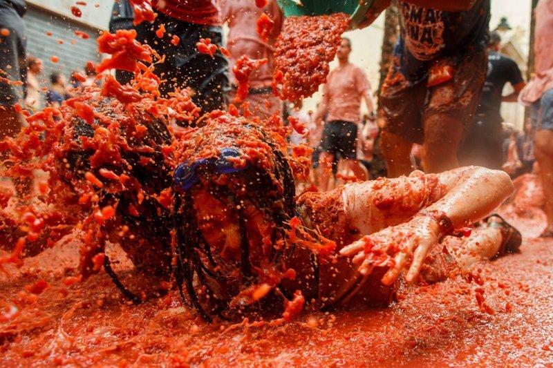 Праздник Томатина, Буньоль, Испания кадр, момент, ракурс, событие, фотография, фотомир, явление
