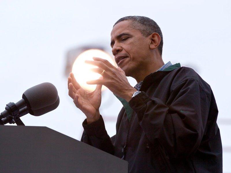 Барак Обама во время предвыборной кампании в Каунсил-Блафс, штат Айова  кадр, момент, ракурс, событие, фотография, фотомир, явление