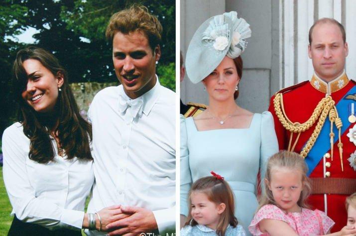 6. Уильям и Кэтрин, герцог и герцогиня Кембриджские - 2005 и 2018 Любовь, звездные пары, звезды, знаменитости, пары, подборка, тогда и сейчас, фото