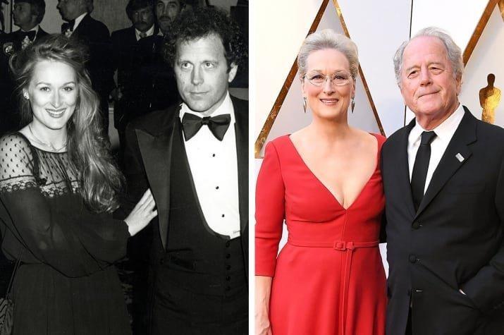 12. Мерил Стрип и Дон Гаммер - 1979 и 2018 Любовь, звездные пары, звезды, знаменитости, пары, подборка, тогда и сейчас, фото