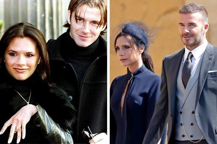 7. Дэвид и Виктория Бекхэм - 1998 и 2018 Любовь, звездные пары, звезды, знаменитости, пары, подборка, тогда и сейчас, фото