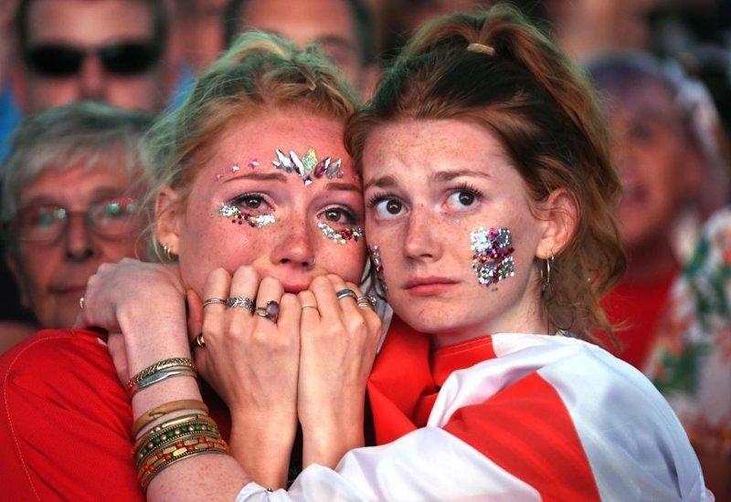 Как плакали английские фанаты, когда хорваты отобрали у них мечту англия, болельщики, спорт, фанаты, футбол, хорватия, чемпионат мира