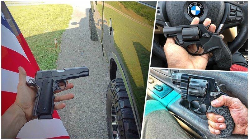 Какое оружие носят с собой американцы америка, американцы, оружие, сша, штаты