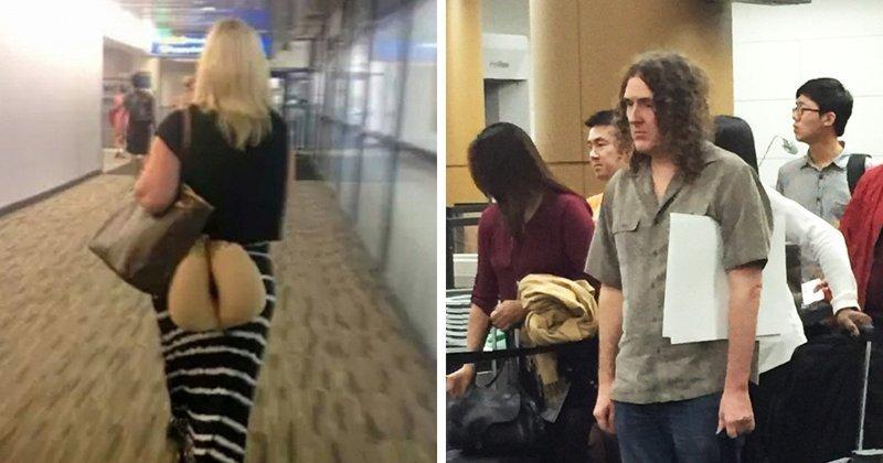Такое можно увидеть только в аэропорту! аэропорт, аэрошутки, багаж, забавно, забавные пассажиры, зал ожидания, смешно, юмор