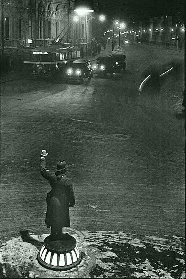 Регулировщик на Арбатской площади, 1936 год, Москва СССР, история, фотографии в цвете