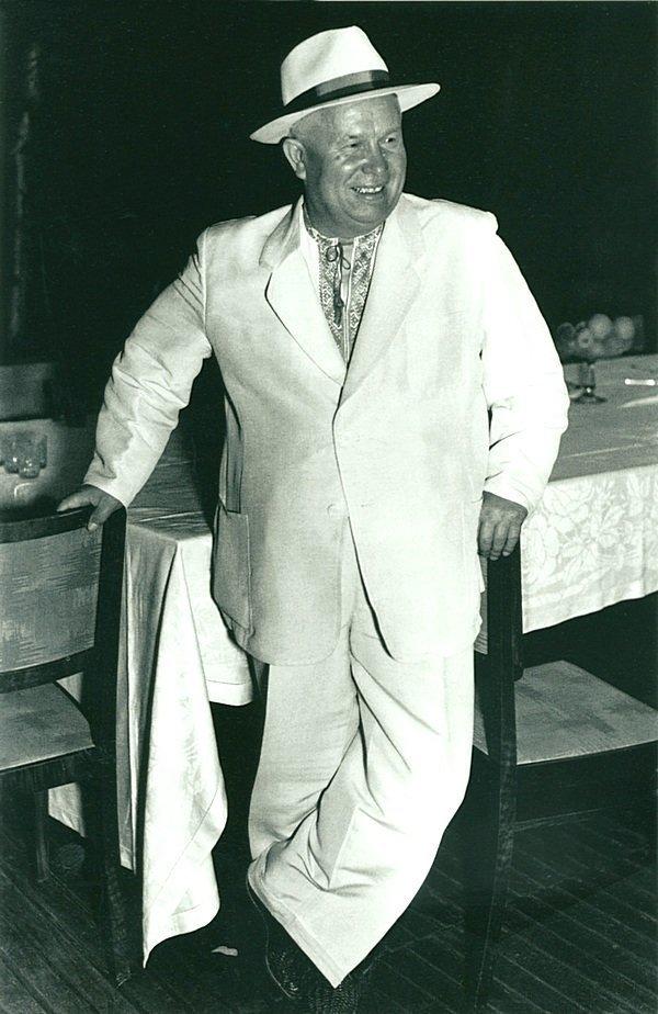 Никита Хрущев.  Лето, 1955 г. СССР, история, фотографии в цвете