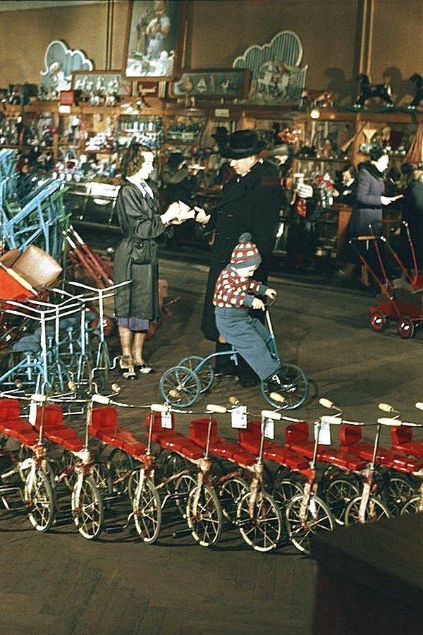 Магазин в Ленинграде, 1950 год СССР, история, фотографии в цвете